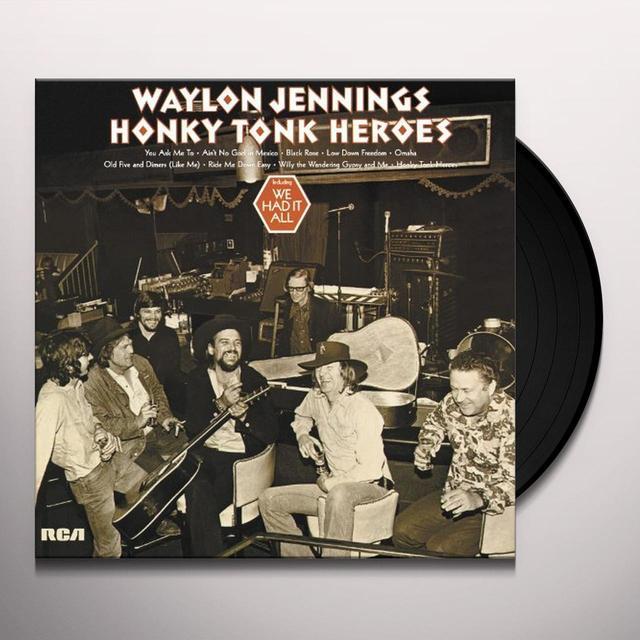 Waylon Jennings HONKY TONK HEROES Vinyl Record