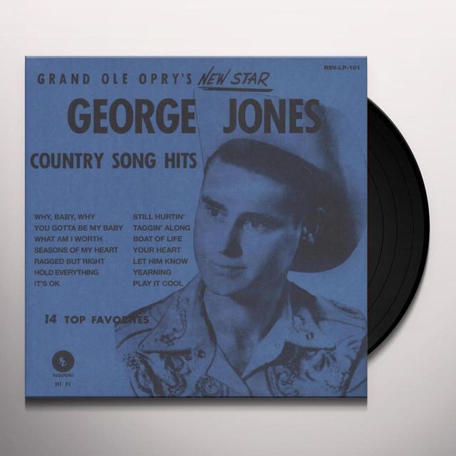 George Jones GRAND OLE OPRY'S NEW STAR Vinyl Record