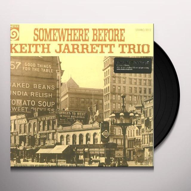Keith Trio Jarrett SOMEWHERE BEFORE Vinyl Record - 180 Gram Pressing