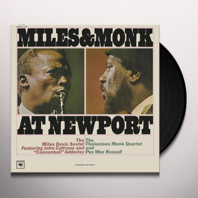 Miles Davis MILES & MONK AT NEWPORT (MONO VINYL) Vinyl Record - Mono