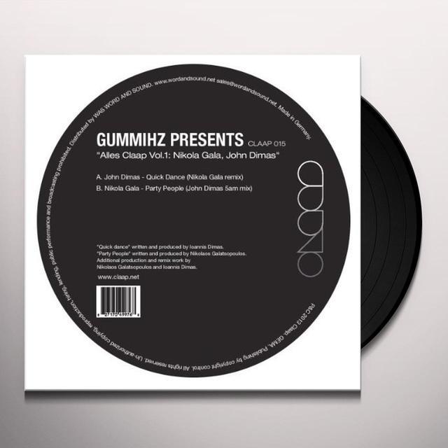John Dimas / Nikola Gala ALLES CLAAP 1 Vinyl Record
