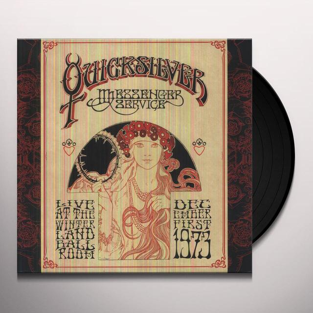 Quicksilver Messenger Service LIVE AT THE WINTERLAND BALLROOM - DECEMBER 1, 1973 Vinyl Record