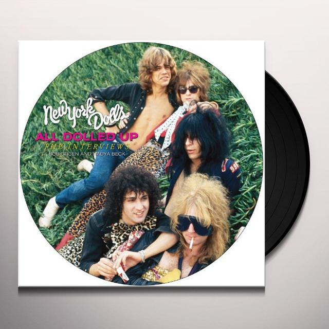 New York Dolls ALL DOLLED UP: INTERVIEW (W/DVD) Vinyl Record - Picture Disc