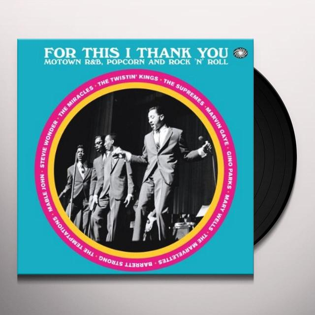 FOR THIS I THANK YOU / VARIOUS Vinyl Record