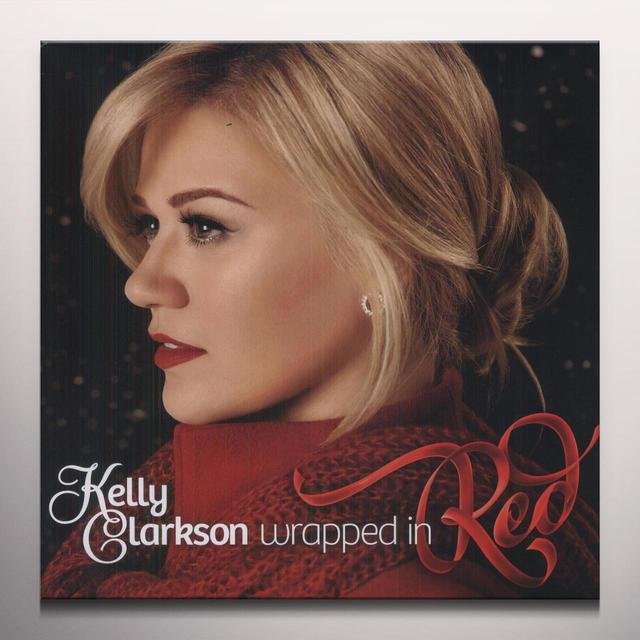 Kelly Clarkson WRAPPED IN RED Vinyl Record - Colored Vinyl