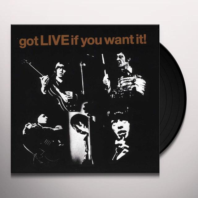 The Rolling Stones GOT LIVE IF YOU WANT IT Vinyl Record