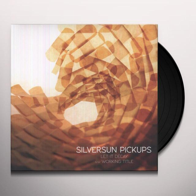 Silversun Pickups LET IT DECAY Vinyl Record - 10 Inch Single