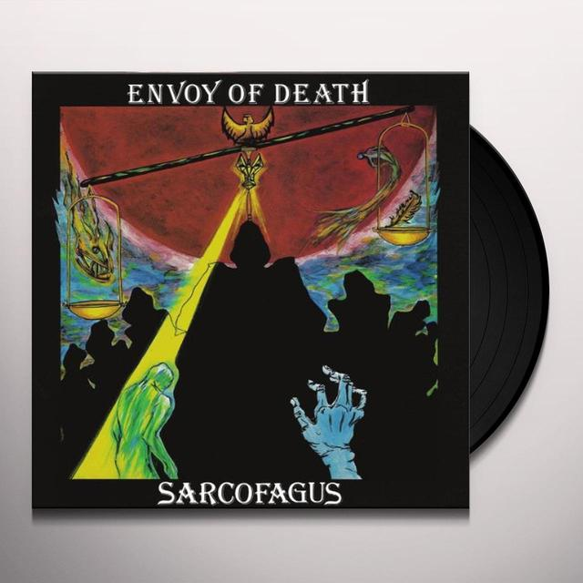 Sarcofagus ENVOY OF DEATH (RED VINYL) Vinyl Record - Portugal Import