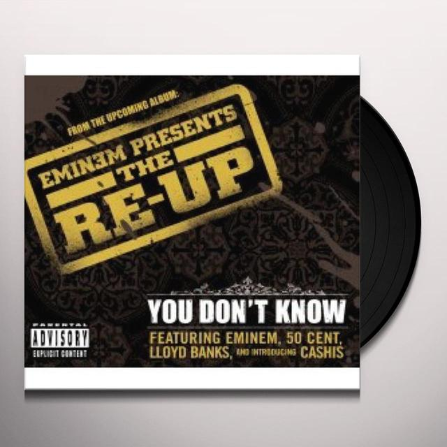 Eminem YOU DON'T KNOW Vinyl Record - UK Import