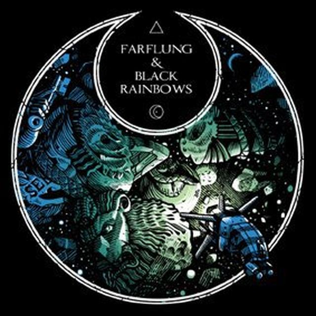 Farflung / Black Rainbows SPLIT (CLEAR VINYL) Vinyl Record - Holland Import