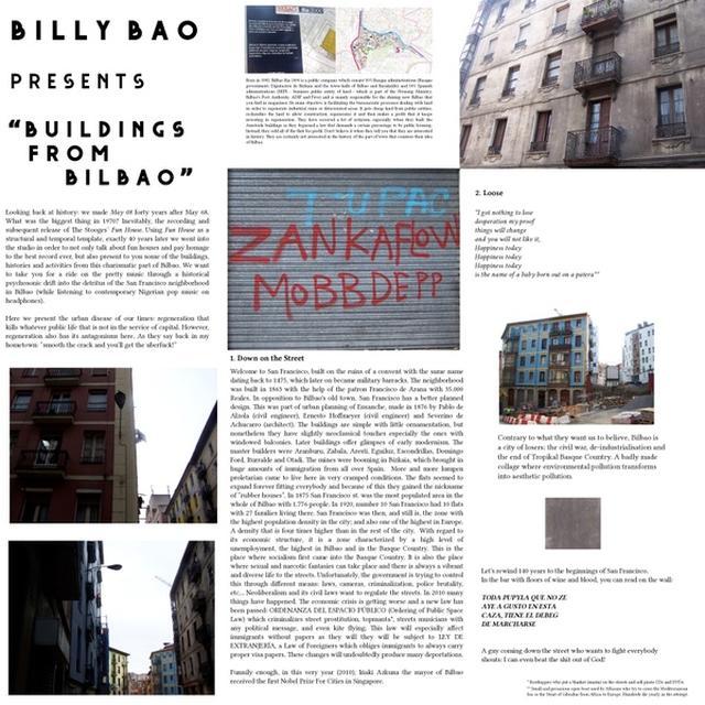 Billy Bao BUILDINGS FROM BILBAO Vinyl Record