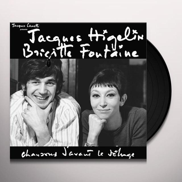 Jacques Higelin & Brigitte Fontaine CHANSONS D'AVANT LE DELUGE (FRA) (Vinyl)