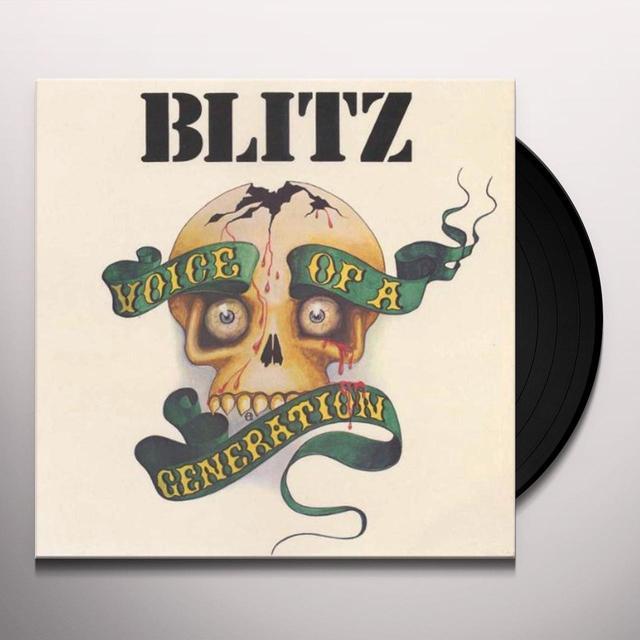Blitz VOICE OF A GENERATION Vinyl Record