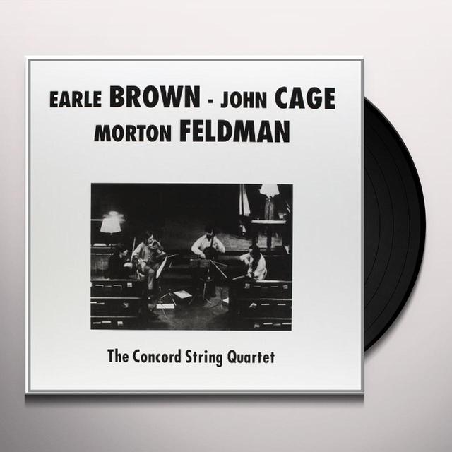 Concord String Quartet PLAYS BROWN CAGE & FELDMAN Vinyl Record
