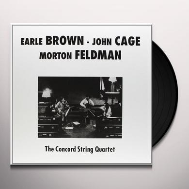 Concord String Quartet PLAYS BROWN CAGE & FELDMAN Vinyl Record