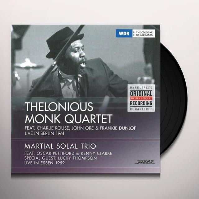Thelonious Quartet Monk LIVE IN BERLIN '61/LIVE IN ESSEN Vinyl Record