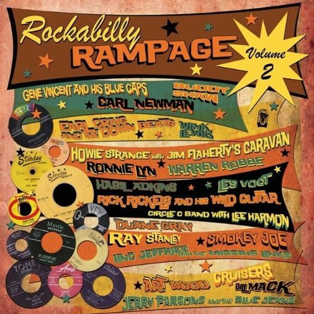 VOL. 2-ROCKABILLY RAMPAGE Vinyl Record - UK Import