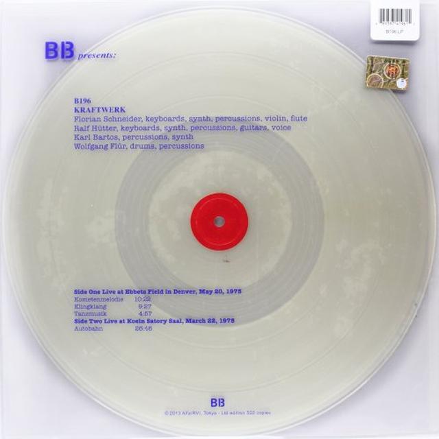 Kraftwerk LIVE AT EBBET FIELD IN DENVER MAY 20 1975/LIVE AT Vinyl Record