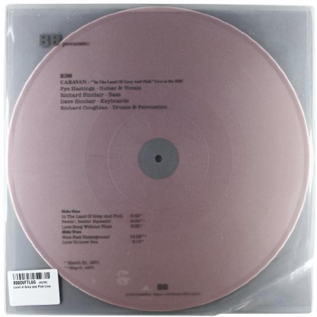 Caravan LAND OF GREY & PINK LIVE Vinyl Record