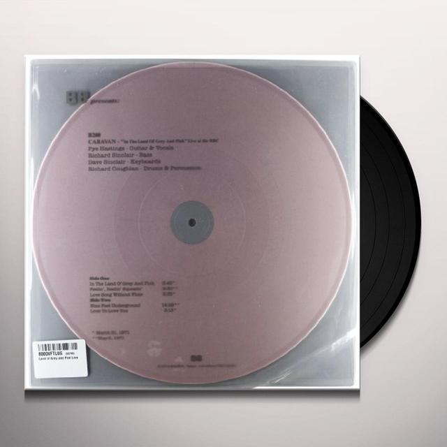 Caravan LAND OF GREY & PINK LIVE Vinyl Record