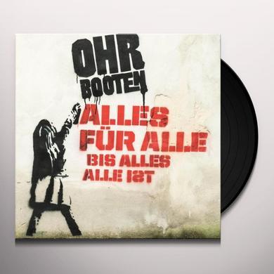 Ohrbooten ALLES FUR ALLE BIS ALLLES ALLE IST (GER) Vinyl Record