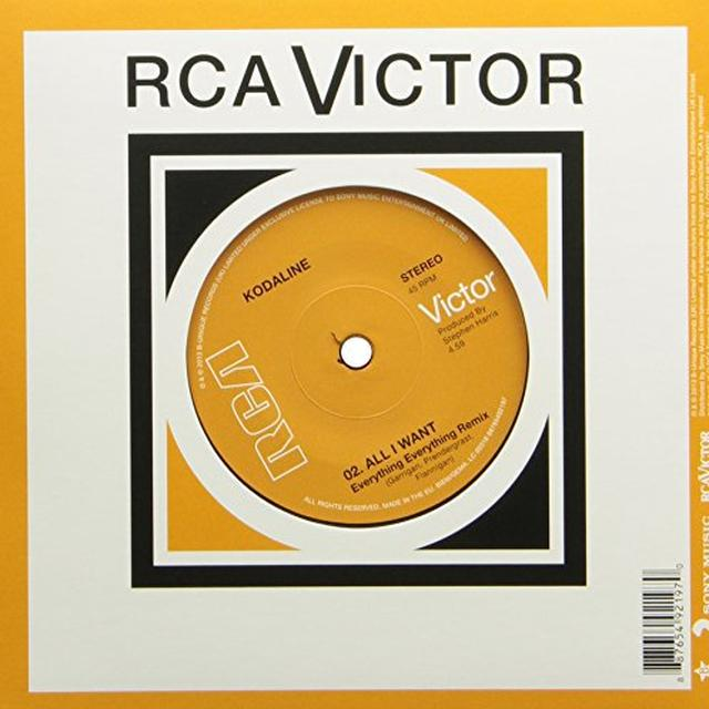 Kodaline ALL I WANT Vinyl Record - Canada Release