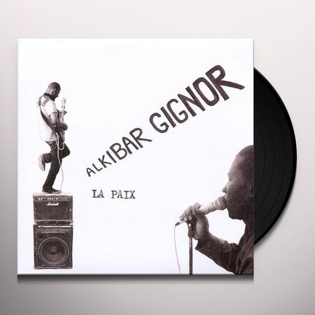 Alkibar Gignor LA PAIX Vinyl Record - Holland Import