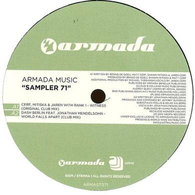 ARMADA MUSIC SAMPLER 71 DASH BERLIN/RANK 1 Vinyl Record - Holland Release