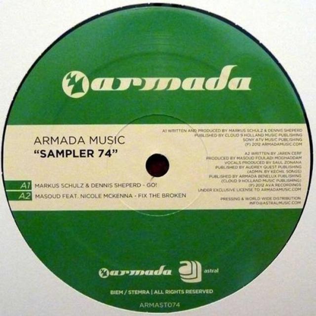 ARMADA MUSIC SAMPLER 74 Vinyl Record - Holland Release
