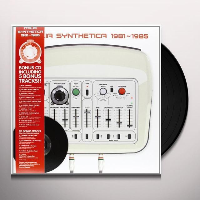 ITALIA SYNTHETICA 1981-1985 Vinyl Record