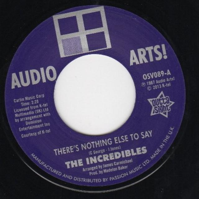 Audio Arts Strings The Incredibles THERE'S NOTHING ELSE TO SAY Vinyl Record