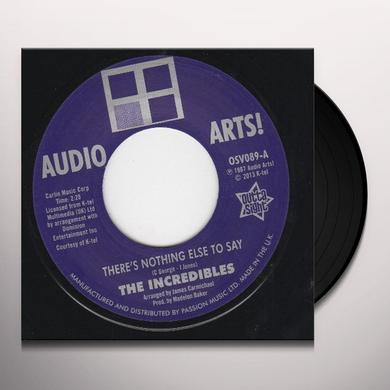 Audio Arts Strings The Incredibles THERE'S NOTHING ELSE TO SAY Vinyl Record - UK Import