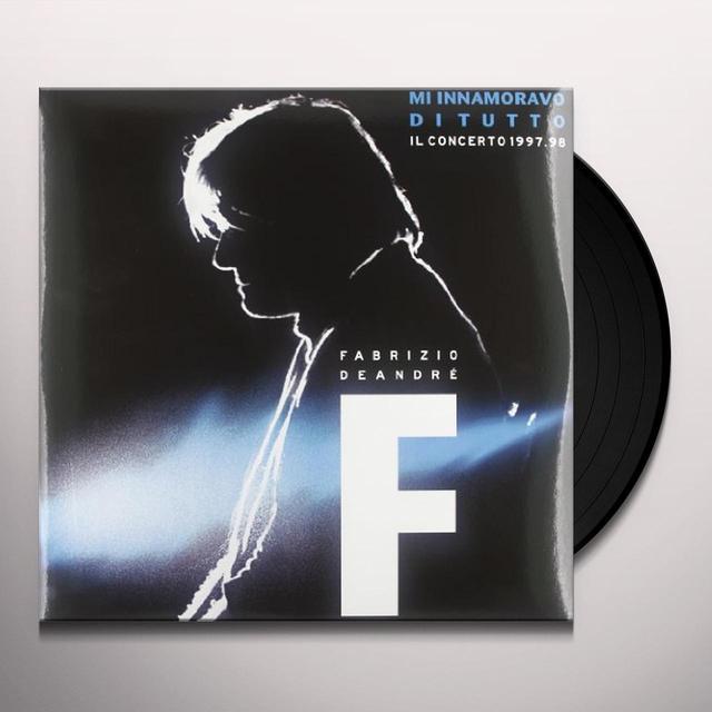 Fabrizio De André M'INNAMORAVO DI TUTTO-IL CONCERTO 1998 (GER) Vinyl Record
