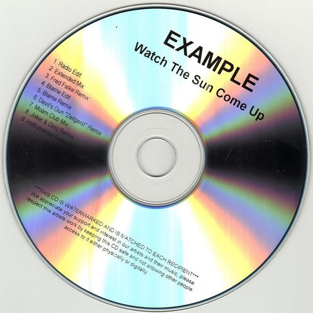 Example WATCH THE SUN COME UP Vinyl Record - UK Import
