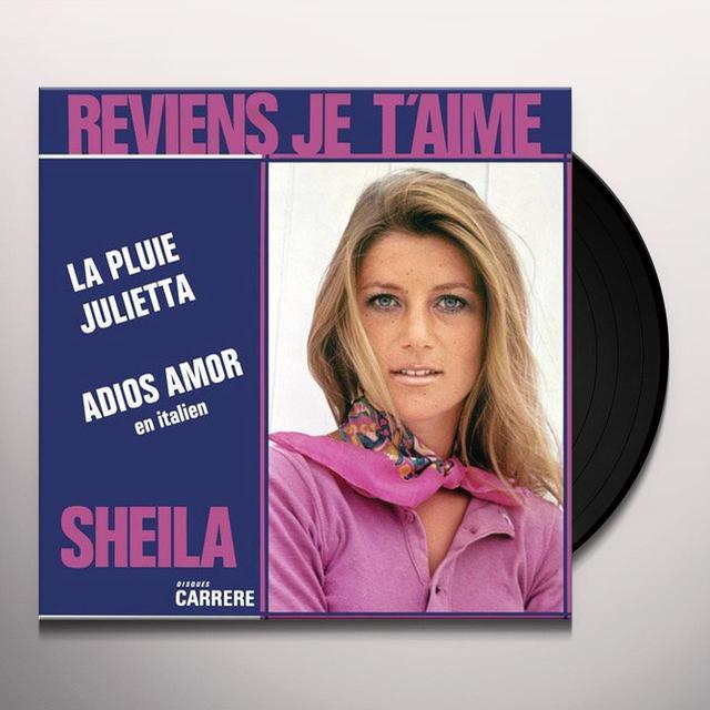 Sheila REVIENS JE T'AIME Vinyl Record