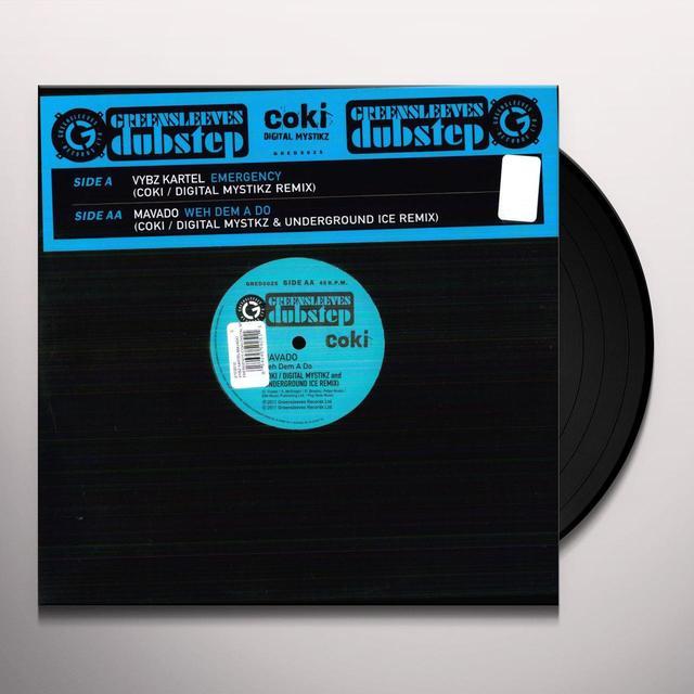 Vybz Kartel & Mavado EMERGENCY (COKI-DIGITAL MYSTIKZ REMIX)/WEH DEM A D Vinyl Record