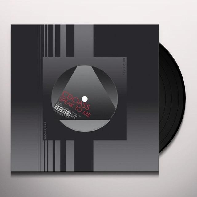 Cdoass SPEAK TO ME/CHEMICALS Vinyl Record
