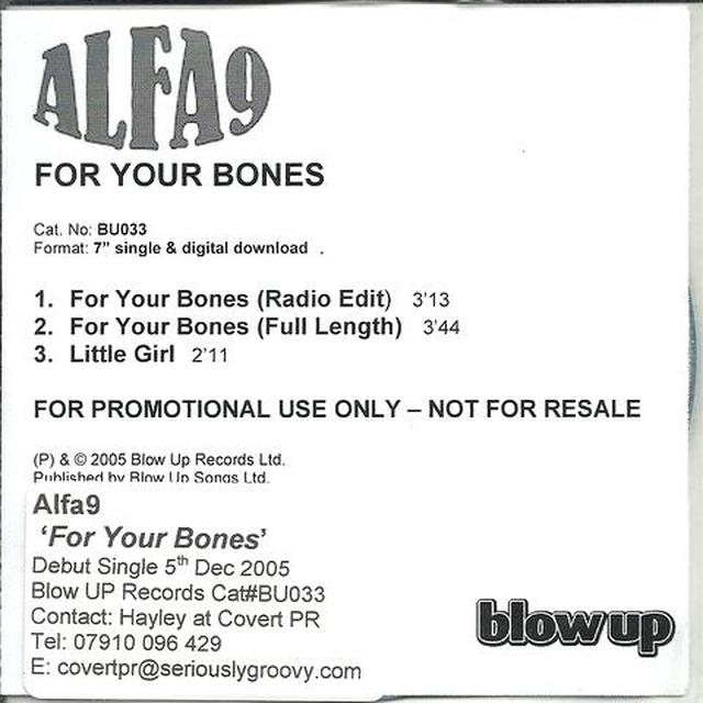 Alfa 9 FOR YOUR BONES Vinyl Record - UK Import