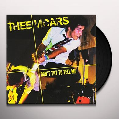 Thee Vicars DON'T TRY TO TELLME Vinyl Record - UK Import
