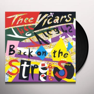 Thee Vicars BACK ON STREETS Vinyl Record - UK Import