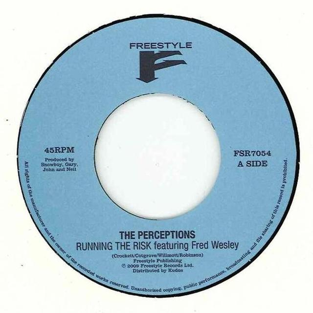 The Perceptions RUNNING THE RISK Vinyl Record - Australia Import