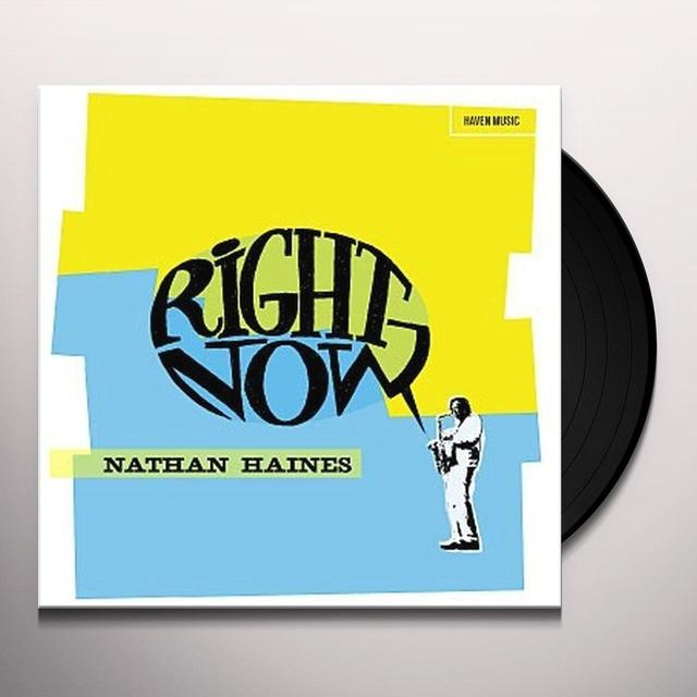 Nathan Haines RIGHT NOW Vinyl Record - Australia Release