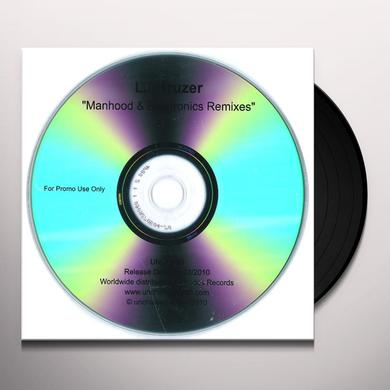 Lj Kruzer MANHOOD & ELECTRONICS REMIXES Vinyl Record - Australia Release