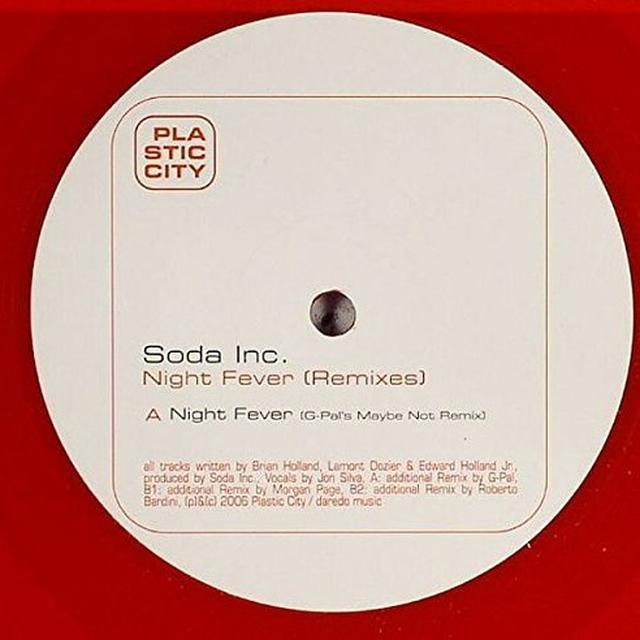 Soda Inc. NIGHT FEVER REMIXES Vinyl Record