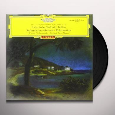 B. Mendelssohn SYMPHONIEN NR. 4 & 5 (GER) Vinyl Record