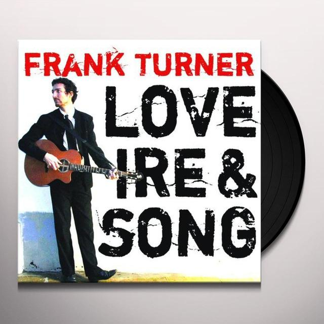 Frank Turner LOVE IRE & SONG Vinyl Record - UK Import