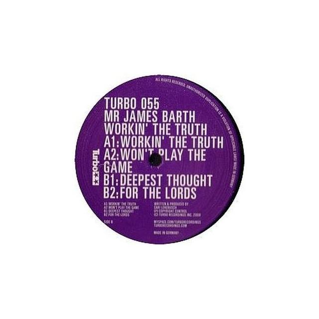 Mr James Barth WORKIN' THE TRUTH EP (FRA) Vinyl Record
