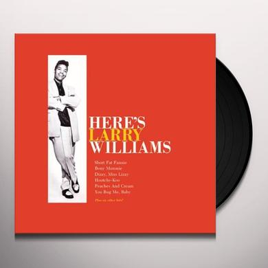 Williams Harry HERE'S LARRY WILLIAMS Vinyl Record - Italy Release