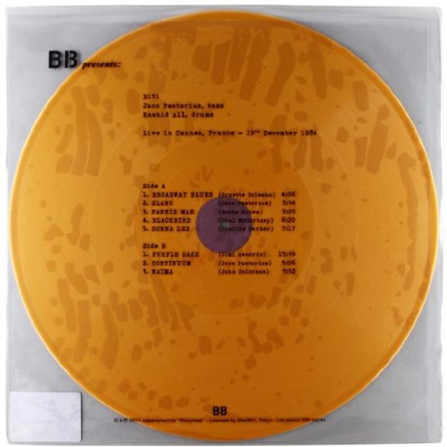 Jaco Pastorious & Ali Rashid LIVE IN CANNES FRANCE 19TH DEC. 1984 Vinyl Record - Italy Release