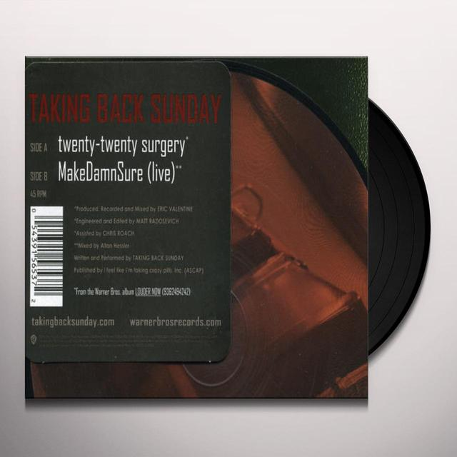 Taking Back Sunday TWENTY-TWENTY SURGERY (UK) (Vinyl)